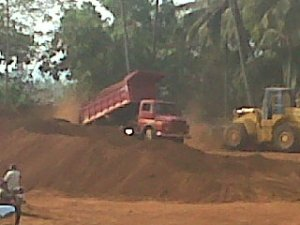 Transporting Iron Ore at Goa and Karnataka